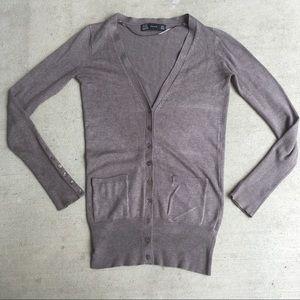 Zara tan long sleeve cardigan